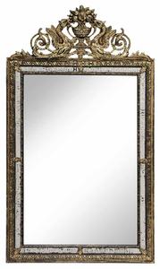 Venetian Baroque Style Gilt and Mirror-Framed Mirror