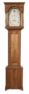 New England Federal Carved Cherry Tall Case Clock