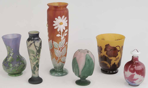Six Pieces of Cameo Glass