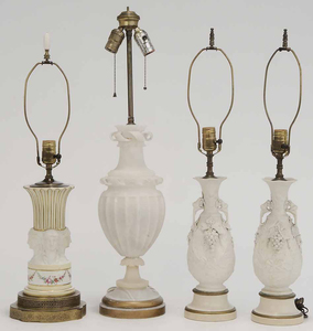 Group Four White Table Lamps