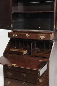 Mahogany Desk and Bookcase