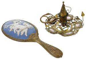 Wedgwood  Mirror and French Chamberstick