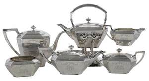 Six Piece Durgin Fairfax Sterling Tea Service