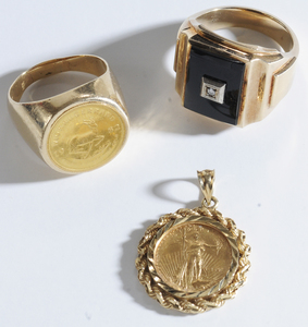 Group of Gold Coin Jewelry