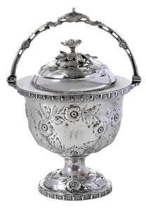 Bailey Coin Silver Covered Sugar Bowl