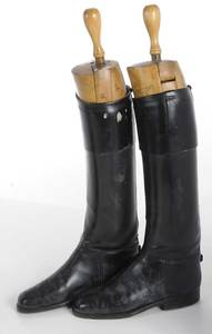 Three Pair of Black Leather Riding Boots