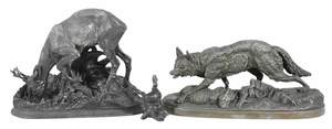 Three Animalier Sculptures