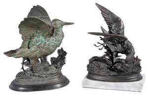 Two Waterbird Bronzes