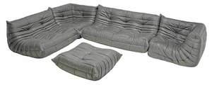 Five Piece Leather Togo Sofa Set for Ligne Roset