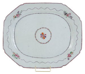 Large Chinese Export Porcelain Platter