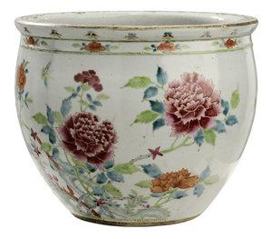 Famille Rose Gilt Decorated Jardinière