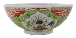 Chinese Porcelain Enameled Punch Bowl