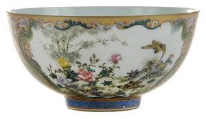 Fine Gilt-Decorated and Enamleded Famille Rose Porcelain Bowl