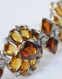 Vintage Cartier Paris, Diamond and Citrine Bracelet