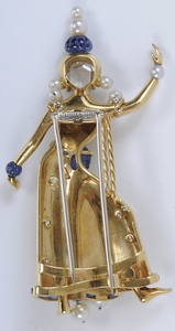 Rare Van Cleef & Arpels Thai Dancer Brooch