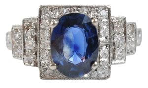Platinum, Sapphire and Diamond Ring