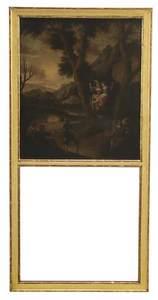 Louis XVI Gilt Trumeau Mirror