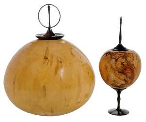 Two Bobby Phillips Wood Turned Vessels