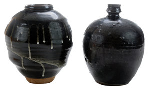 Two Stoneware Jars