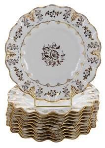 Eleven Royal Crown Derby Dessert Plates