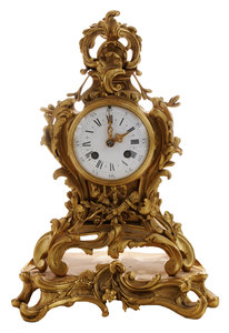 Louis XV Style S. Marti Bronze Mantle Clock