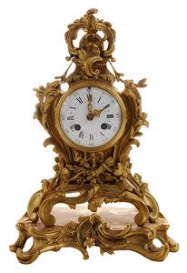 Louis XV Style S. Marti Bronze Mantle Clock