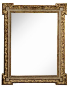 Louis Philippe Paint-Decorated Mirror