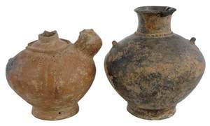 Two Pre-Columbia Pottery Vessels