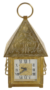 French Engraved Brass Carriage Clock