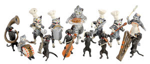 13 Cold Painted Bronze Animal Figures