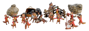15 Cold Painted Bronze Animal Figures