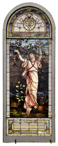 Fine American Figural Stained Glass Window