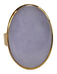 18 Karat Yellow Gold and Lavender Jade Ring