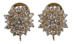 Pair Diamond Cluster Earrings*