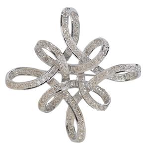 18 Karat White Gold and Diamond Brooch*
