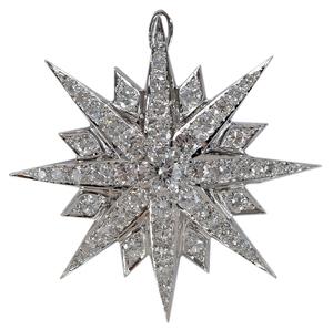 Vintage Diamond Brooch/Pendant*