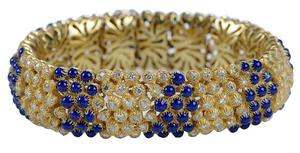18 Karat Yellow Gold Diamond and Enamel Bracelet*