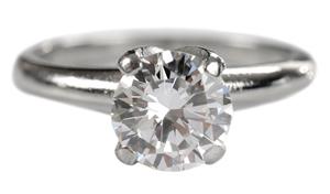 Platinum and Diamond Solitaire Ring*