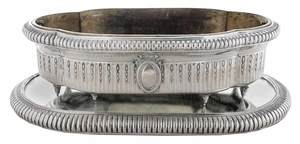 German Silver Center Bowl with Plateau