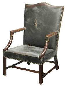 Chippendale Mahogany Library Chair