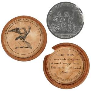 Erie Canal Medal in Original Wood Case