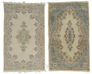 Two Similar Kerman Rugs