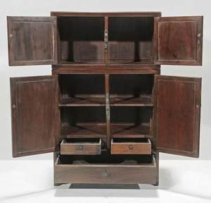 Fine Chinese Hardwood Miniature Cabinet