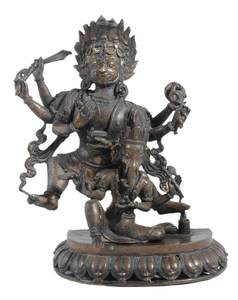 Bronze Yamantaka and Ganesh Figure