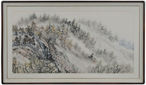 Large Framed Mountain Scene