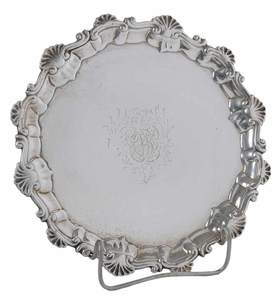 Dorthy Mills George II English Silver Salver