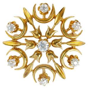14kt. Diamond Brooch/Pendant