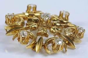 14kt. Diamond Brooch/Pendant