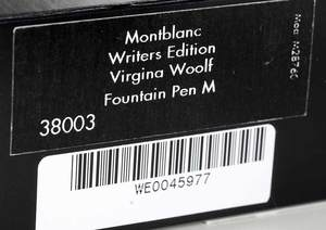Montblanc Virginia Woolf Fountain Pen