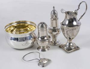 Five Georgian English Silver Table Items